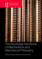 The Routledge Handbook of Mechanisms and Mechanical Philosophy PDF