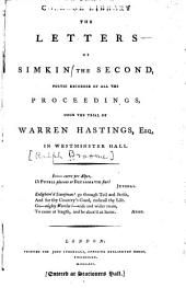The letters of Simkin the second: poetic recorder of all the proceedings