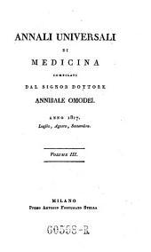 Annali di medicina straniera, compilati da A(nnibale) Omodei: Volume 7