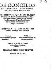 De concilio et legitime judicandis controversiis religionis