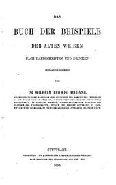 Das Buch der Beispiele der alten Weisen: Band 3