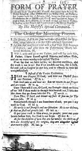 A Form of Prayer, to be used ... on Wednesday the twenty-sixth Day of February, 1806, being the Day appointed by Proclamation for a general Fast and Humiliation, etc