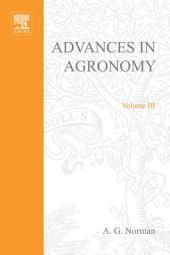 Advances in Agronomy: Volume 3