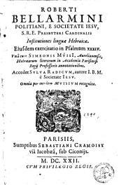 Institutiones linguae Hebraicae: ejusdem exercitatio in Psalmum XXXIV