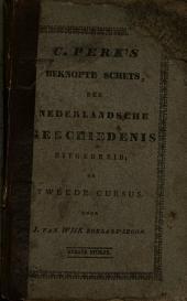 C. Perk's beknopte schets der Nederlandsche geschiedenis uitgebreid ...