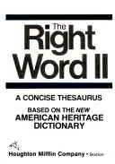 The Right Word II