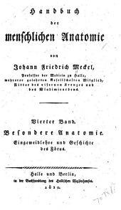 Handbuch der menschlichen Anatomie: Band 4
