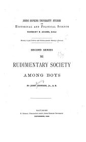Rudimentary Society Among Boys