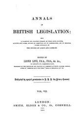 Annals of British Legislation: Volume 7