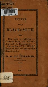 A letter from a blacksmith to the ministers and elders of the Church of Scotland: in which the manner of public worship in that Church is considered, its inconveniencies and defects pointed out, and methods for removing them humbly proposed