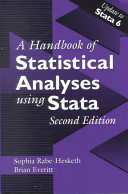 Handbook of Statistical Analyses Using Stata  Second Edition PDF