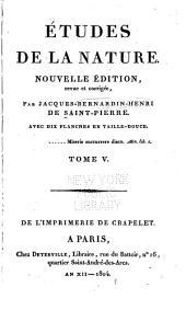 Études de la nature: Volume5