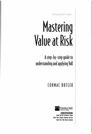 Mastering Value at Risk PDF