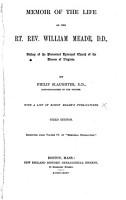 Memoir of the Life of the Rt  Rev  William Meade  D D  PDF
