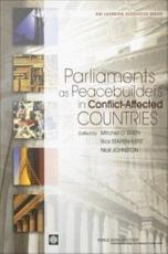 Parliaments as Peacebuilders in Conflict affected Countries PDF