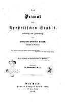 Das primat des apostoloschen stuhls PDF
