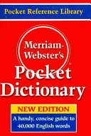 Merriam Webster s Pocket Dictionary Book