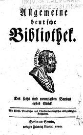 Allgemeine deutsche Bibliothek: Band 96