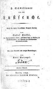 F. Schwediauer von der Lustseuche