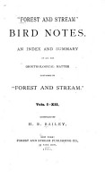 Forest and Stream  Bird Notes PDF