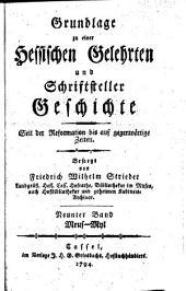 Grundlage zu einer hessischen gelehrten und schriftsteller geschichte seit der reformation bis auf gegenwärtige zeiten: Bände 9-10