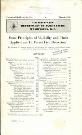 Some Principles of Visibility and Their Application to Forest Fire Detection: Volumes 951-975