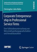 Corporate Entrepreneurship in Professional Service Firms PDF