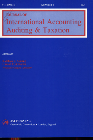Journal of International Accounting  Auditing   Taxation PDF