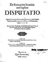De Statu primi hominis ante lapsum Disputatio