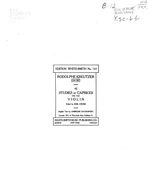 42 Studies Or Caprices for the Violin PDF
