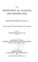 The Production of Paraffin and Paraffin Oils PDF
