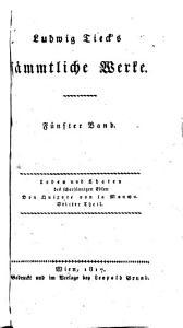 Ludwig Tieck s Sammtliche Werke  Erster    dreyssigster   Band PDF