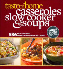 Taste Of Home Casseroles Slow Cooker Soups Book PDF