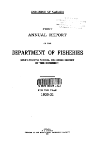 Annual Report of the Department of Fisheries PDF