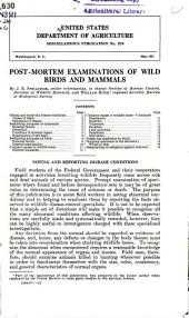 Post-mortem examinations of wild birds and mammals