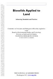 Biosolids Applied to Land: Advancing Standards and Practices