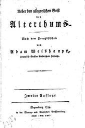 Ueber den allegorischen Geist des Alterthums: Nach d. Franz