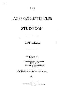 American Kennel Club Stud Book Register PDF