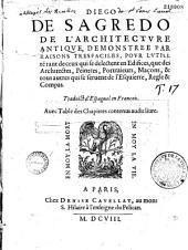 De l'architecture antique, demonstree par raisons tres faciles ... Traduict d'Espagnol en François