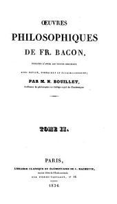 Oeuvres philosophiques de Bacon: Volume2