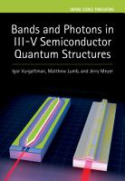 Bands and Photons in III V Semiconductor Quantum Structures PDF