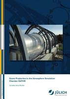 Ozone Production in the Atmosphere Simulation Chamber SAPHIR PDF
