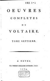 Oeuvres complètes de Voltaire: Volume7