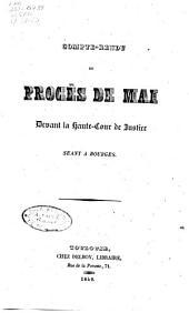 Compte-rendu du procès de mai: devant la Haute-cour de justice, séant à Bourges