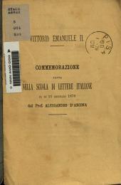 Vitorio Emanuele II: commemorazione fatta nella scuola di lettere italiane il di 21 gennaio 1878