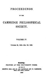 Proceedings of the Cambridge Philosophical Society: Mathematical and physical sciences, Volume 4