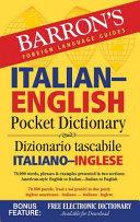 Barron s Italian English Pocket Dictionary