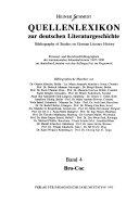 Quellenlexikon zur deutschen Literaturgeschichte PDF
