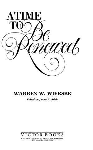 A Time to be Renewed PDF