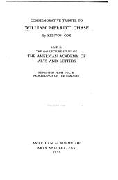 Commemorative Tribute to William Merritt Chase: Issue 19